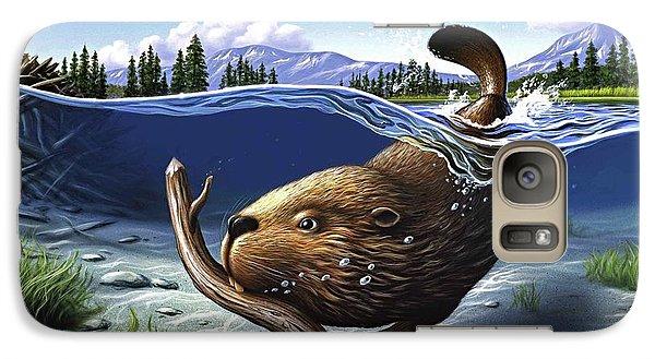 Beaver Galaxy S7 Case - Busy Beaver by Jerry LoFaro