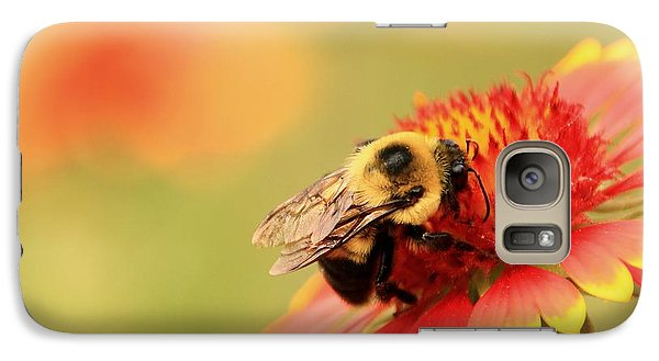 Galaxy Case featuring the photograph Busy Bumblebee by Chris Berry