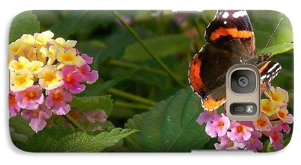 Galaxy Case featuring the photograph Busy Butterfly Side 1 by Felipe Adan Lerma