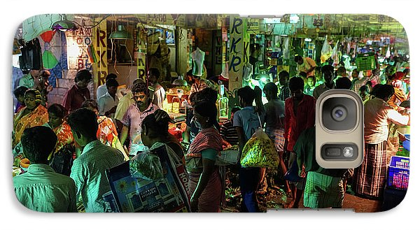 Galaxy Case featuring the photograph Busy Chennai India Flower Market by Mike Reid