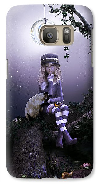 Galaxy Case featuring the digital art Busy Doing Nothing by Shanina Conway
