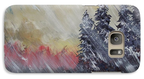 Galaxy Case featuring the painting But The Weather Man Said.... by Dan Whittemore