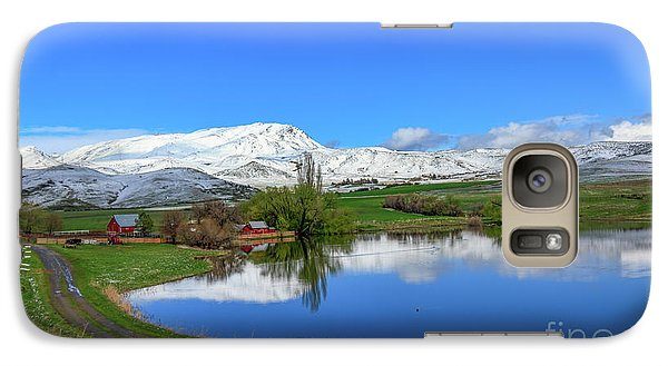 Galaxy Case featuring the photograph Butte Farm After Spring Snow by Robert Bales