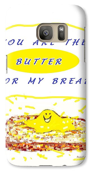 Galaxy Case featuring the drawing Butter For My Bread by Denise Fulmer