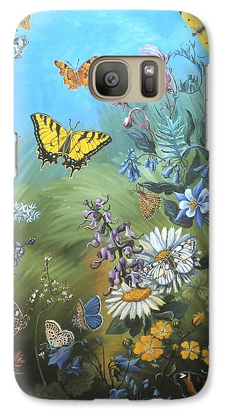 Galaxy Case featuring the painting Butterflies And Wildflowers Of Wyoming by Dawn Senior-Trask