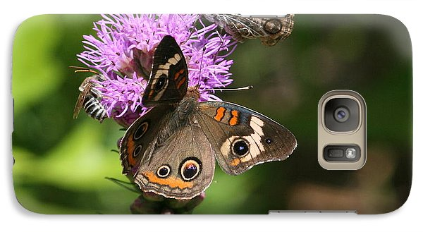 Galaxy Case featuring the photograph Butterflies And Purple Flower by Cathy Harper