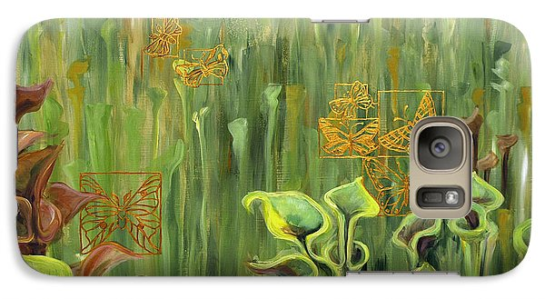Galaxy Case featuring the painting Butterflies In The Bog by Suzanne McKee