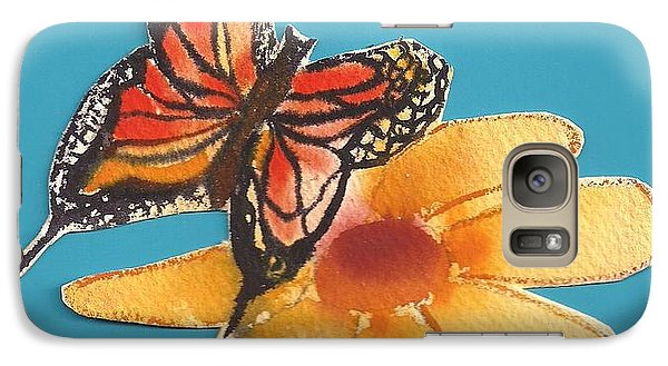 Galaxy Case featuring the painting Butterflower by Denise Fulmer