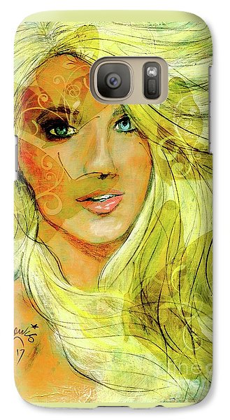 Galaxy Case featuring the painting Butterfly Blonde by P J Lewis
