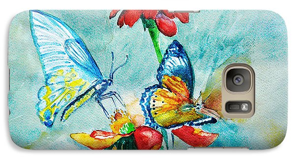 Galaxy Case featuring the painting Butterfly Dance by Jasna Dragun