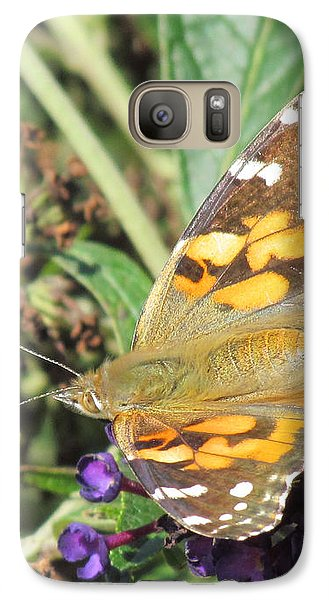Galaxy Case featuring the photograph Butterfly Details by Bonnie Muir