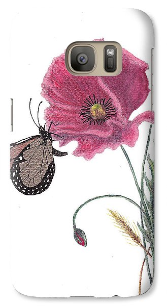Galaxy Case featuring the painting Butterfly Dreaming by Stanza Widen