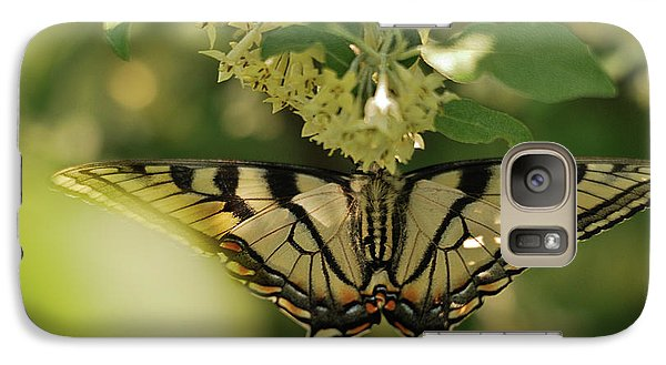 Galaxy Case featuring the photograph Butterfly From Another Side by Susan Capuano