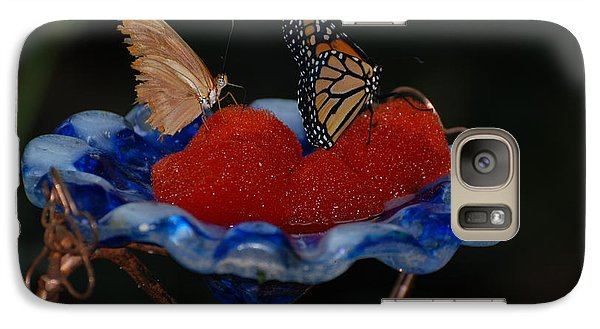 Galaxy Case featuring the photograph Butterfly Fruit by Richard Bryce and Family