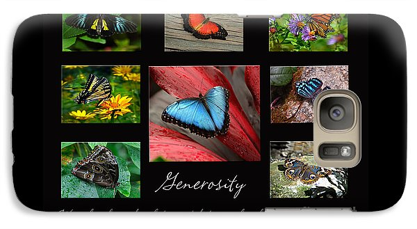 Galaxy Case featuring the photograph Butterfly Generosity Collage by Diane E Berry