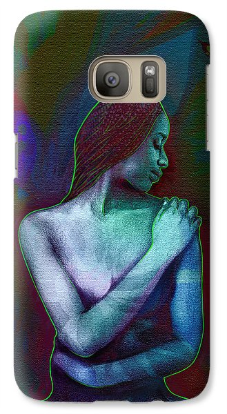 Galaxy Case featuring the digital art Butterfly Hearts II by AC Williams