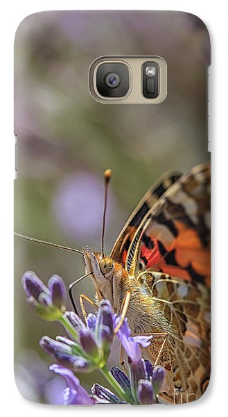 Galaxy Case featuring the photograph Butterfly In Close Up by Patricia Hofmeester