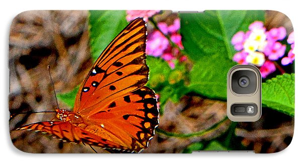 Galaxy Case featuring the photograph Butterfly In Flight 002 by George Bostian