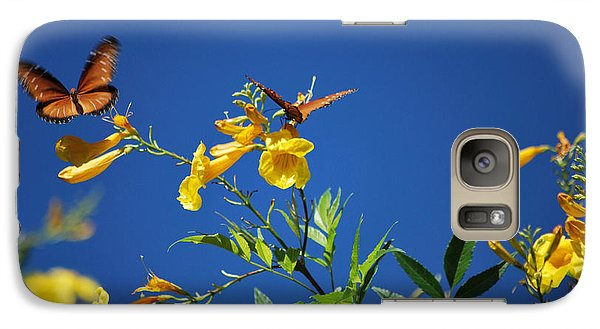 Galaxy Case featuring the photograph Butterfly In The Sonoran Desert Musuem by Donna Greene