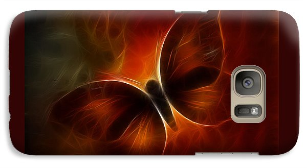 Galaxy Case featuring the digital art Butterfly Kisses by Holly Ethan