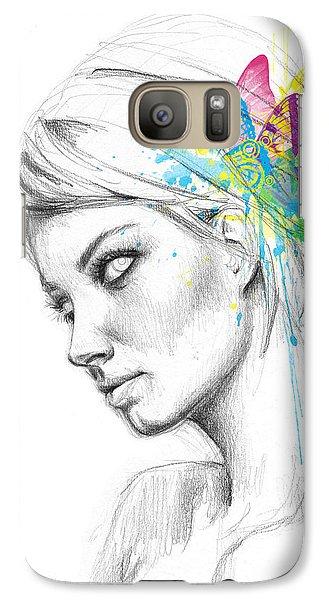 Fairy Galaxy S7 Case - Butterfly Queen by Olga Shvartsur