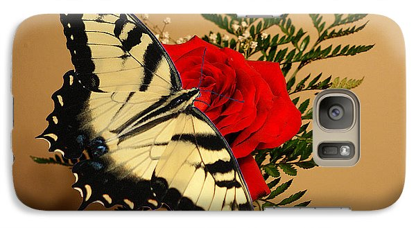 Galaxy Case featuring the photograph Butterfly Rose by Rick Friedle