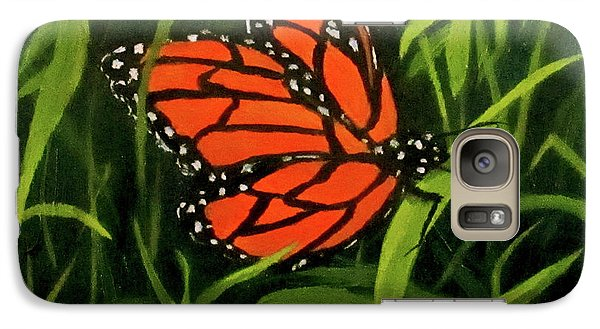 Galaxy Case featuring the painting Butterfly by Roseann Gilmore