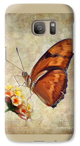 Galaxy Case featuring the pyrography Butterfly by Savannah Gibbs