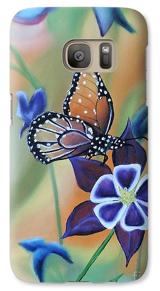Galaxy Case featuring the painting Butterfly Series#4 by Dianna Lewis