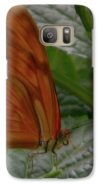 Galaxy Case featuring the photograph Butterfly Smile by Manuela Constantin
