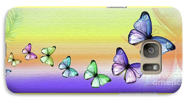 Butterfly Trail 2 By Kaye Menner Galaxy S7 Case by Kaye Menner