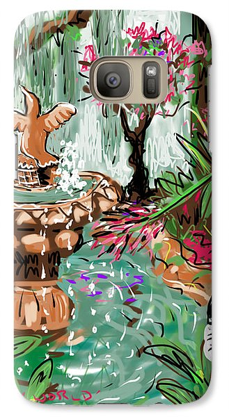 Galaxy Case featuring the digital art Butterfly World by Jean Pacheco Ravinski