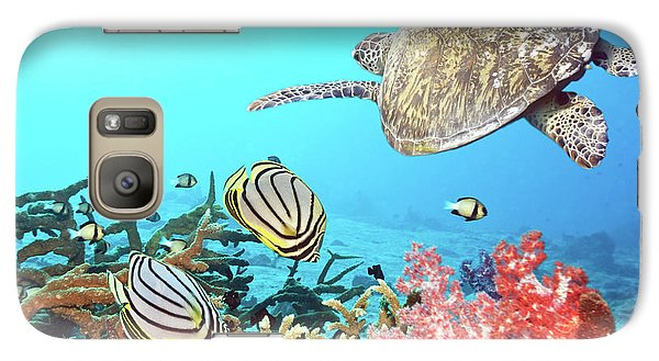 Butterflyfishes And Turtle Galaxy S7 Case