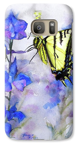 Galaxy Case featuring the painting Butteryfly Delight by Bonnie Rinier
