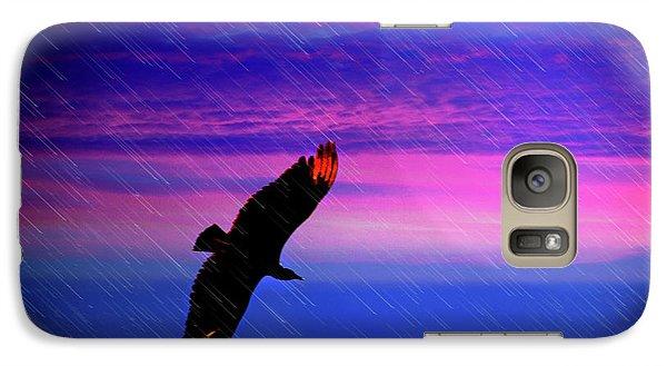 Galaxy Case featuring the photograph Buzzard In The Rain by Al Bourassa
