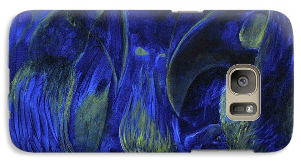 Galaxy Case featuring the painting Buzzards Banquet by Christophe Ennis