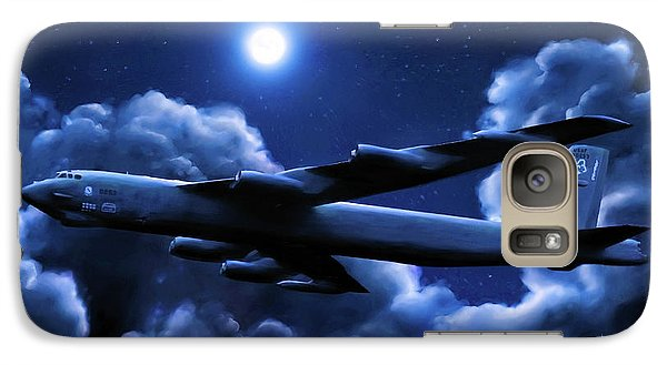 Galaxy Case featuring the painting By The Light Of The Blue Moon by Dave Luebbert