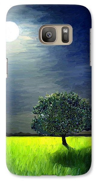 Galaxy Case featuring the painting By The Light Of The Moon by James Shepherd