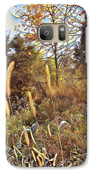 Galaxy Case featuring the photograph By The Railroad Tracks by Diane Miller