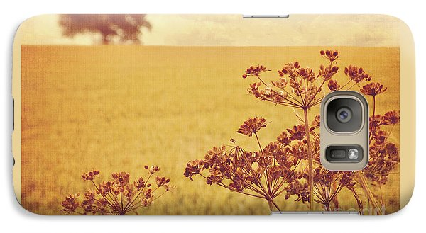 Galaxy Case featuring the photograph By The Side Of The Wheat Field by Lyn Randle