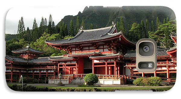 Galaxy Case featuring the photograph Byodo-in Temple, Oahu, Hawaii by Mark Czerniec