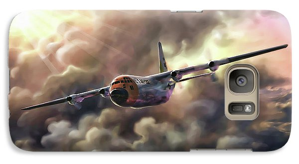 Galaxy Case featuring the painting C-130 Hercules by Dave Luebbert
