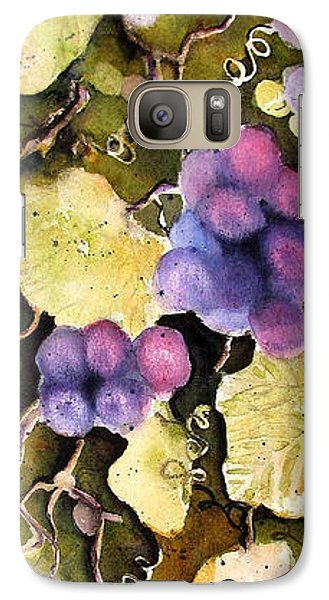 Galaxy Case featuring the painting Cabernet Harvest 2 by Marti Green