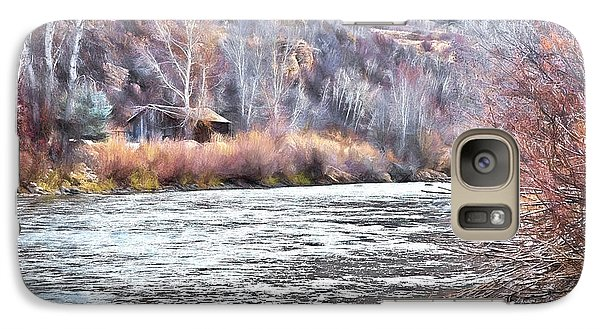Galaxy Case featuring the photograph Cabin By The River In Steamboat,co by James Steele