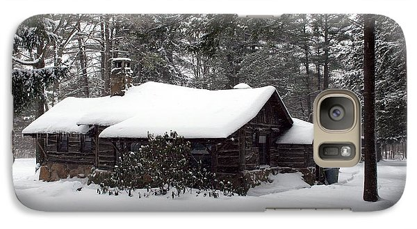 Galaxy Case featuring the photograph Cabin In The Woods by Denise Moore