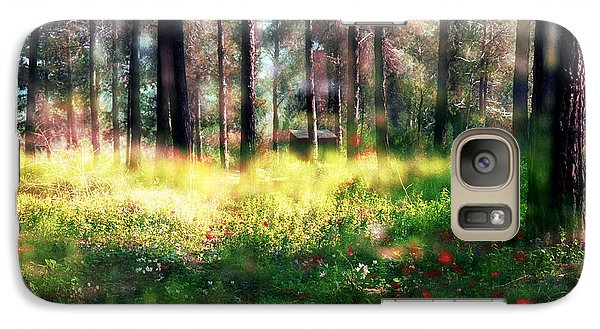 Galaxy Case featuring the photograph Cabin In The Woods In Menashe Forest by Dubi Roman