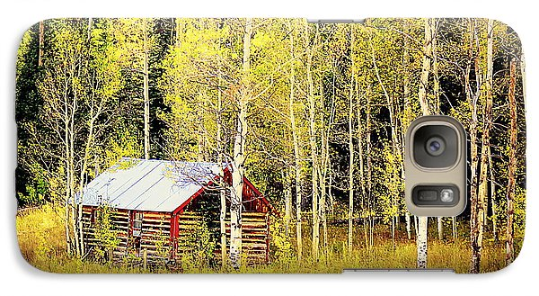 Cabin In The Golden Woods Galaxy S7 Case by Karen Shackles