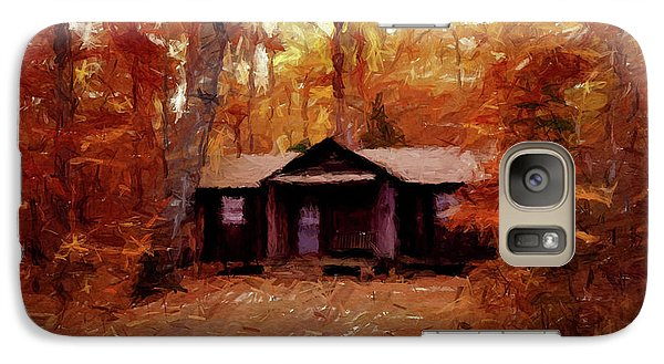 Galaxy Case featuring the painting Cabin In The Woods P D P by David Dehner