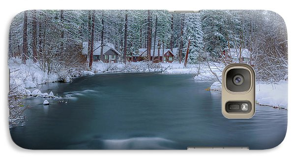 Galaxy Case featuring the photograph Cabins On The Metolius by Cat Connor