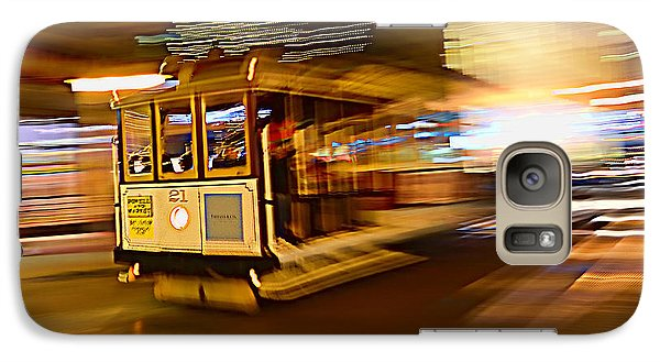 Galaxy Case featuring the photograph Cable Car At Light Speed by Steve Siri